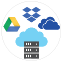 Save Backed up mail to Cloud services like Google Drive, One Drive, Drop Box or FTP